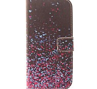 Colorful Petals Design PU Leather Full Body Case for HTC ONE M8