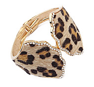 European Style Leopard Open Bangle
