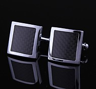 Dress Black and Silver Mens Cufflinks (1pair)