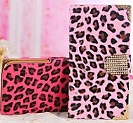 Leopard Diamond Buckle Leopard Print Graphic PU Leather Full Body Cases for iPhone 4/4S (Assorted Color)