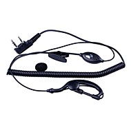 Baiston HSEJ-A 3.5mm + 2.5mm Walkie Talkie Handsfree Earphone w/ Microphone - Black (130cm-Cable)