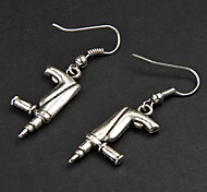 Punk Gun Silver Alloy Earrings(1 Pair)