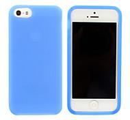 Diseño simple del silicón del color sólido de la caja suave para el iPhone 5/5S (colores surtidos)