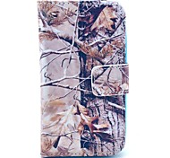 Grey Camo Tree Pattern PU Leather Case with Card Holder for Samsung Galaxy I8160