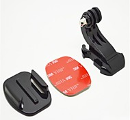 GoPro Hero3 + / 3/2/1 Zubehör Brust trägt einen Helm mit dem Flugzeug J-Form-Basis mit 3 M Kleber Is Black