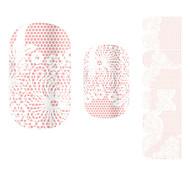28PCS Pink Flower Design Stickers Nail Art