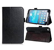 Faux Leather Litchi Geweven Stand beschermhoes voor Samsung Galaxy Tab T310