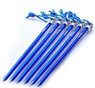 Aluminum Nail Pegs for Outdoor Camping Tent  Accessories 230mm Deep Blue (6 Pieces Pack)