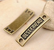 Eruner®36*10MM Alloy Best Friend Charms Pendants Jewelry DIY (5PCS)