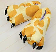 Kigurumi Pajamas Giraffe Shoes / Slippers Halloween Animal Sleepwear Yellow Animal Print Cotton / Polyester Slippers Unisex Halloween