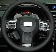 XuJi ™ Black Genuine Leather Steering Wheel Cover for 2013 2014 Subaru Forester Legacy Outback XV