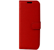 For Samsung Galaxy Case Wallet / Flip Case Full Body Case Solid Color PU Leather Samsung S4