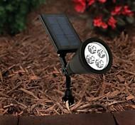 4 LED extérieure d'énergie solaire Spotlight Paysage spot jardin pelouse lumière lampe d'inondation