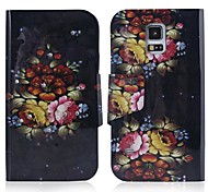 ENKAY Flower Pattern High Quality Protective Case for Samsung Galaxy S5 i9600 / G900