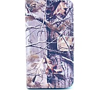 Grey Tree Camo Pattern PU Leather Full Body Case with Card Slot for Samsung Galaxy S5 Mini