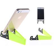 Portátil Titular Folding Suporte para iPhone / iPad Mini e Outros (amarelo)