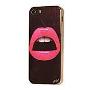 Sexy Pink Lips Pattern TPU Back Case for iPhone 5/5S