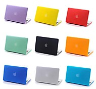 "Coosbo Case for Macbook Pro 13.3""/15.4"" Solid Color Plastic Material Transparent Matt Rubberized Hard Cover Case"