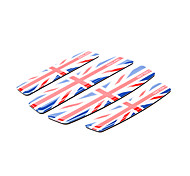 Simple Union Jack Pattern Car Door Edge Guard Protector Trim Sticker (4 Pcs Kit)