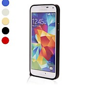 For Samsung Galaxy Case Shockproof Case Bumper Case Solid Color Aluminium Samsung S5