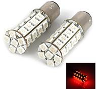 1157  5W 280lm  30-5050SMD LED Red Light Car Brake Lamps (2pcs)