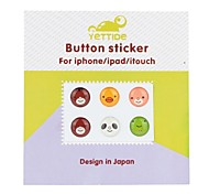 yuanbotong serie KTX-101 cuccioli pulsante home adesivo per iphone iphone 6 6 più / iPad / iTouch / itouch- (6pcs)
