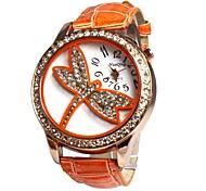 Dames Kwarts Band Heart Shape Zwart / Wit / Blauw / Rood / Orange / Roze / Paars Merk-