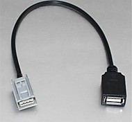 Cabo Adaptador USB Fêmea Para Honda Civic Jazz Fit CRV CRZ Accord para USB Flash Drive MP3 Ipod