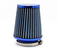 "TIROL afilado redondo Mini Power Stack Filtro 3 ""Auto de admisión de aire frío Blue Air Filters 76mm Diámetro"