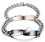 Fashion Couple's Stainless Steel  Bracelet (2 Pc)