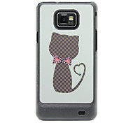 Cat Pattern Hard Case with Rhinestone for Samsung Galaxy S2 I9100