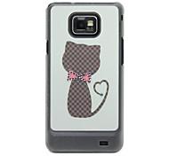 Modelo del gato Caso duro con el Rhinestone para Samsung Galaxy S2 i9100