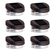 Luces 6pcs 2LED solares Luces de pared Luces de escalera parapeto Luces Calzada Luces Iluminación Jardinería