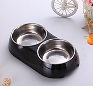 Cat Dog Bowls & Water Bottles Pet Bowls & Feeding Waterproof Black White Blue Pink Yellow Alloy