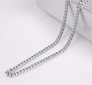 eruner®unisex 3mm Silber Halskette No.28