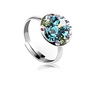 Women's New Arrival Fashion Multi-colored Fashion Rings for Women with Austrian Crystal