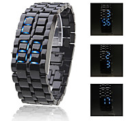 Men's Watch Faceless Watch Blue LED Lava Style Digital Plastic Band  Wrist Watch Cool Watch Unique Watch