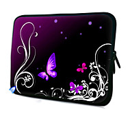 "Caja púrpura de la mariposa Patrón Laptop Sleeve 11,6 ""MacBook Air"
