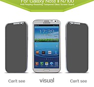 Russian Spanish Engish Version  Anti-Spy Tempered Privacy Glass Screen Protector for  Samsung Galaxy Note2 N7100