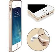 Caso Quadro Slim fina de metal de alumínio no vidro traseiro com Hippocampal Buckle para iPhone 5/5S (cores sortidas)