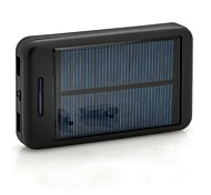 15000 mAh Solar Power Bank Charger with Torch for Smart Mobile Phones (5V,2.1A/1A)