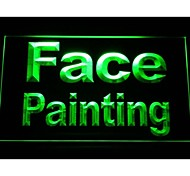 Face Painting Neon Light Sign