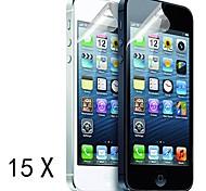 [15 Pack] Protections d'écran de haute qualité mat anti-reflets pour iPhone 5/5S