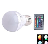 NO E26/E27 3 W 1 NO LM RGB Dimmable / Remote-Controlled Spot Lights AC 85-265 V
