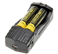 NITECORE NL183 2300mAh 18650 (2 piezas) + TrustFire TR-007 Cargador de batería para 18650/14500 (para 2 baterías)