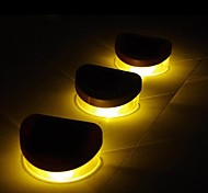 6pcs 2LED Yellow Solar Lights Wall Stair Parapet Walkway Outdoor Deck Lamp