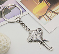 Classic Silver Long Nose Elephant Shape Keychains(1 Pc)