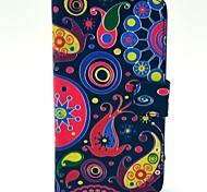 Счастливые Pattern Медузы искусственная кожа Жесткий чехол с подставкой и Гнезда для платы для HTC Desire 310
