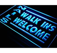 i159 NAILS Walk Ins Welcome OPEN Neon Light Sign