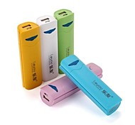 Stylish 2600mAh External Mobile Battery Charger Power Bank for Cell Phones (Assorted Colors)